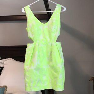 Ark & Co Neon cutout dress